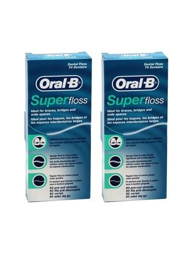 Oral-B Diş İpi Super Floss x 2 adet,RNKSZ Renksiz